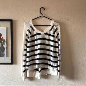 Striped Free People knit top